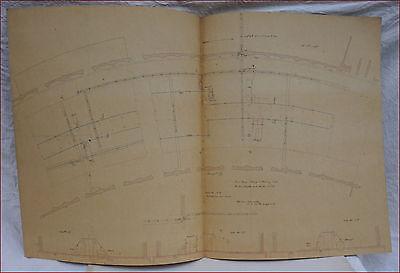 1867 Paris Universal Exhibition Steam Engine Pipes Distribution Plan Galloway