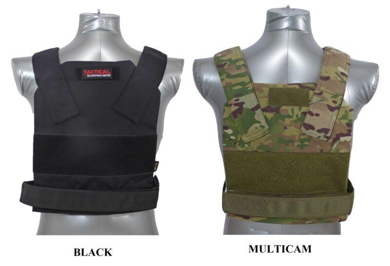 Tactical Scorpion Body Armor Plates 10x12 AR500 Bobcat Concealed Carrier Vest