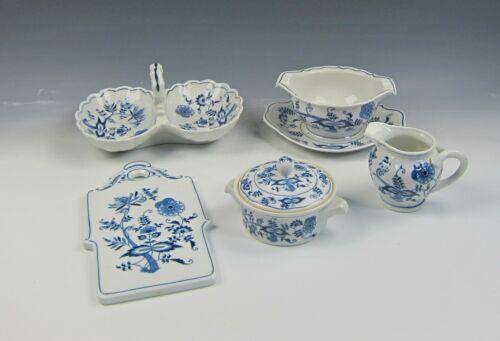 6pc Lot of Blue Danube China BLUE DANUBE Serving Pieces Creamer,Gravy,Relish++