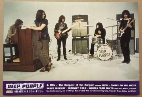 DEEP PURPLE Rare 1999 DOUBLE SIDED PROMO  POSTER for Shades CD NEVER DISPLAYED