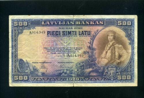 Latvia 500 latu 1929 - VF