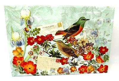 Punch Studio Flap Rectangle Flip Top Nesting Box Wild Bird Floral 61957 Med