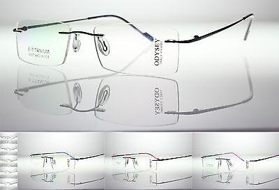 BETA Titanium Rimless Frames TRANSITIONS PHOTO-GREY UV400 Lens Reading (Photo Grey Lenses)