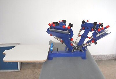 4color Screen Printing Press Micro-adjust Printer Equipment Silk Screen Printing