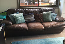 Brown Leather Lounge Kirrawee Sutherland Area Preview