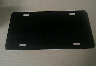 Box Of 100 Black Aluminum License Plate Tag Blanks .025