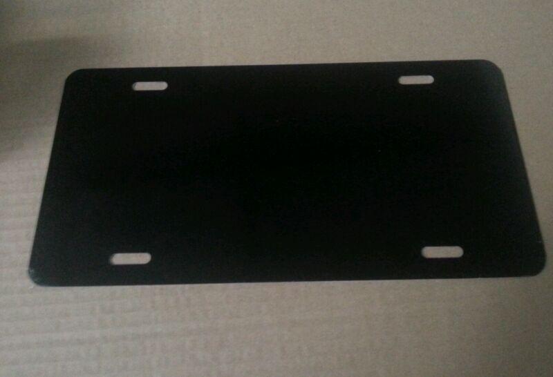 Box of 100 BLACK Aluminum License Plate Tag Blanks .025