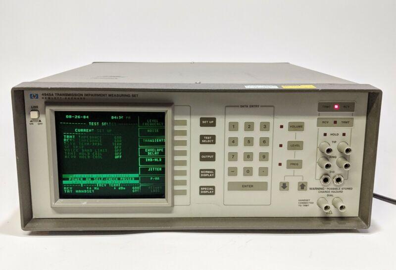 HP 4945A Transmission Impairment Measuring Set Hewlett Packard