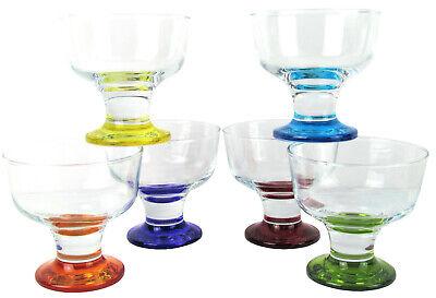 La-V 6-teiliges Retro Eisschalen-Set, Eisbecher, Dessertschalen, 285ml