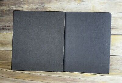 Vintage Lot Of Two Black Pebbled 1.5 Inc Three Ring Binders Abisco And Beaverite