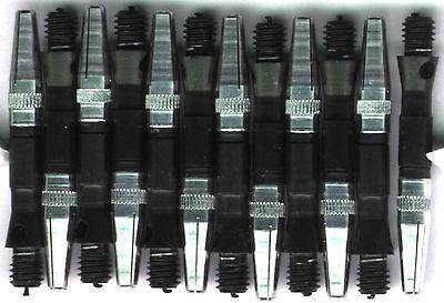 1.25in. 2ba Black Aluminum Rota Spinning Dart Shafts: 3 per (Aluminium Dart Shafts)