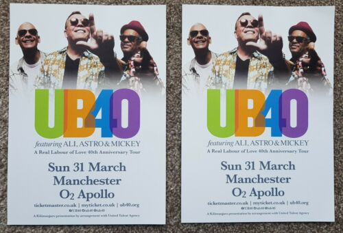 2 Flyers - UB40 - 40th Anniversay tour-  31st March 2019  Manchester
