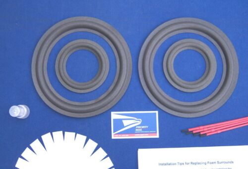 Realistic Optimus T120 Speaker Foam Surround Repair Kit / Woofer & Mid Refoam