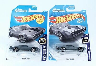 Hot Wheels Fast & Furious Ice Charger Lot of 2