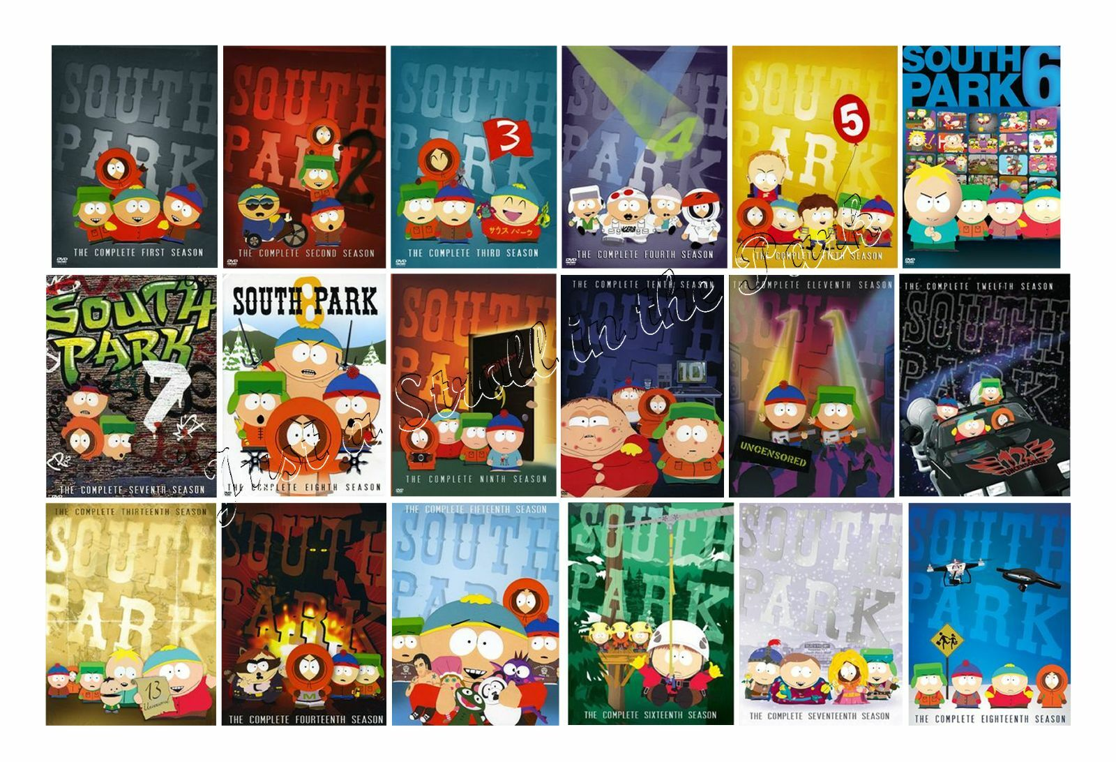 south park animated tv series complete seasons 1 18 box dvd set s new ebay. Black Bedroom Furniture Sets. Home Design Ideas