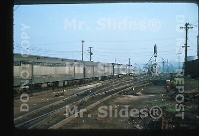 Original Slide B&O Baltimore & Ohio Passenger Train Action New Castle PA 1966