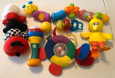 Baby Infant Toys Lot Development Colors Great Excellent Condition And Clean