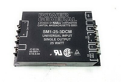 Power General Sm1-25-3dcm Nidec Acdc Supply 12v Adjustable 25w Variable Input
