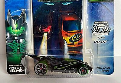 "HOT WHEELS ACCELERACERS ""RD-02"" RACING DRONES TEAM #2 CM6 BLACK CARTOON NETWORK"