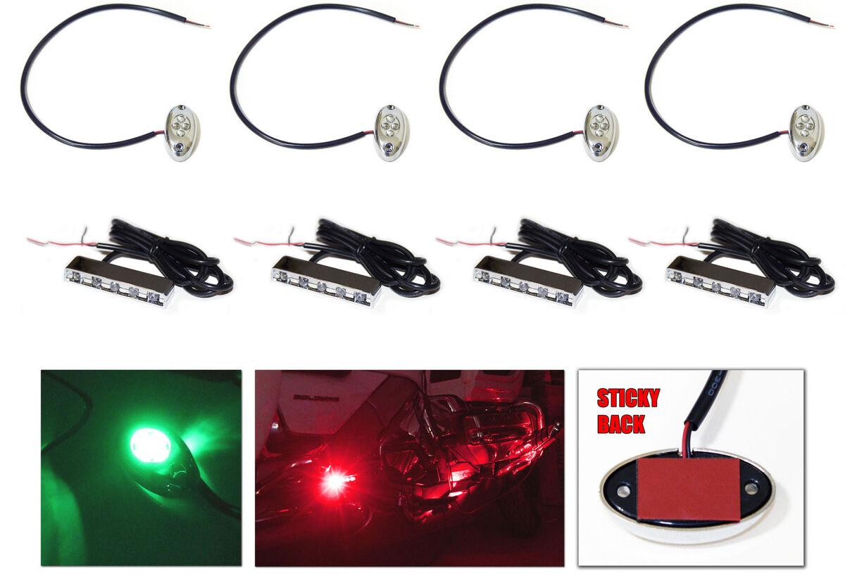 Red Best LED Kit Yamaha Raptor 90 250 350 660 700 ATV