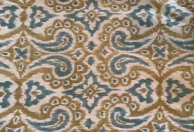 Ikat-sham (Pottery Barn Phillipa Ikat Sham Standard Blue Green Linen Blend )