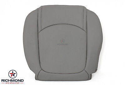 2009-2012 Chevy Traverse -Driver Side Bottom Replacement Leather Seat Cover Gray