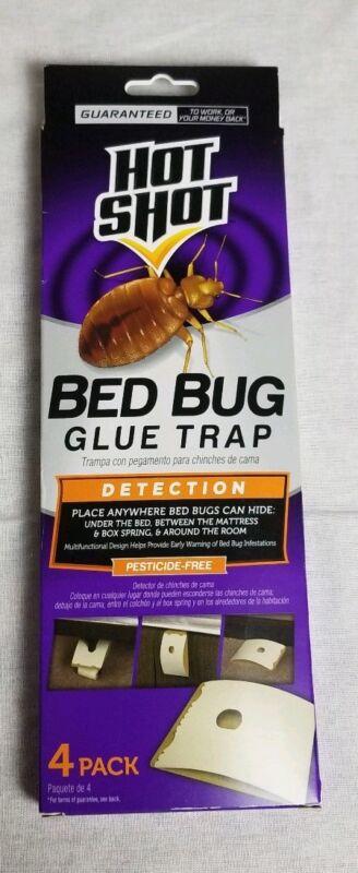 Hot Shot Bed Bug Glue Trap Detector 4 Pack