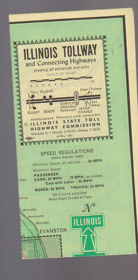Illinois Tollway   Connecting Highways April 1961 Map