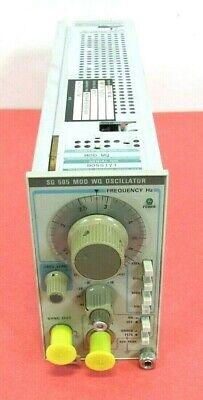 Tektronix Sg 505 Mod Wq Oscillator Plug In Free Shipping