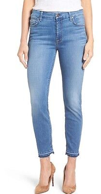NWT Jen7 by 7 For All Mankind Release Hem Stretch Ankle Skinny Jean 2 $149