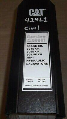 Cat Caterpillar 303.5e 304e 305e 305.5e Cr Excavator Service Shop Repair Manual