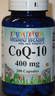 Coq 10 400Mg 200Capsules Coq10 Co Q10 Coenzyme Anti Aging Cardiovascular