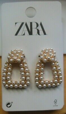 ZARA Faux Pearl Door-Knocker Pierced Earrings