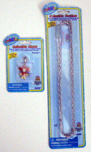 Webkinz Collectible PANCHO Chihuahua Charm & NECKLACE Unused Codes Sealed FreeSh