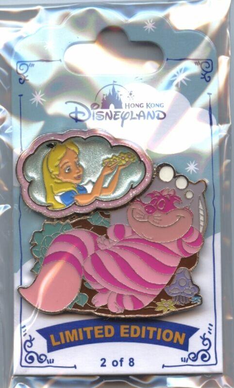 Hong Kong Disneyland - My Dreaming Series - Cheshire Cat and Alice Pin