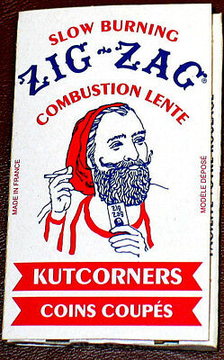 Vintage Collector Cigarette Rolling Paper ZIG ZAG Slow Burn KUTCORNERS Red/White