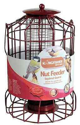 BIRD NUT FEEDER WITH SQUIRREL GUARD LANTERN STYLE METAL WIRE CAGE 36cm BF007