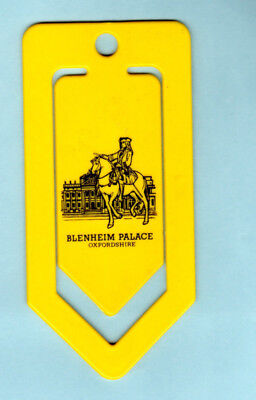 Bookmark Blenheim Palace Winston Churchill Birthplace Yellow Plastic Paper Clip for sale  London
