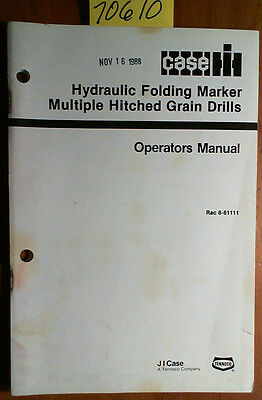 Case Ih Hydraulic Folding Marker Multiple Hitched Grain Drill Operator Manual 88
