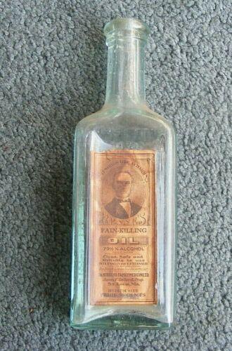 Vintage Antique Glass Bottle Renne