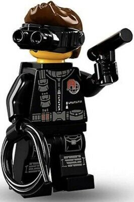 LEGO SPY # 14 MINIFIGURE 71013 SERIES 16 NEW RETIRED RARE SECRET AGENT