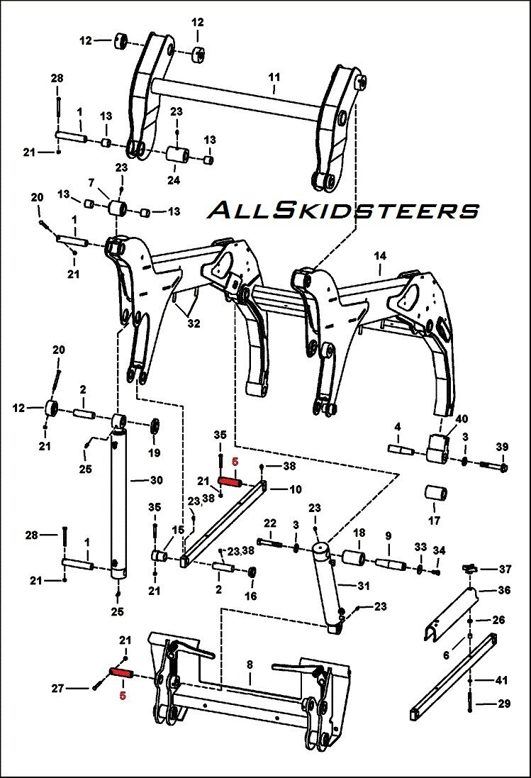 T180 Bobcat Wiring Diagram Another Blog About 2008 Bobtach Cyl Pivot Pin S150 S160 S175 S185 S205
