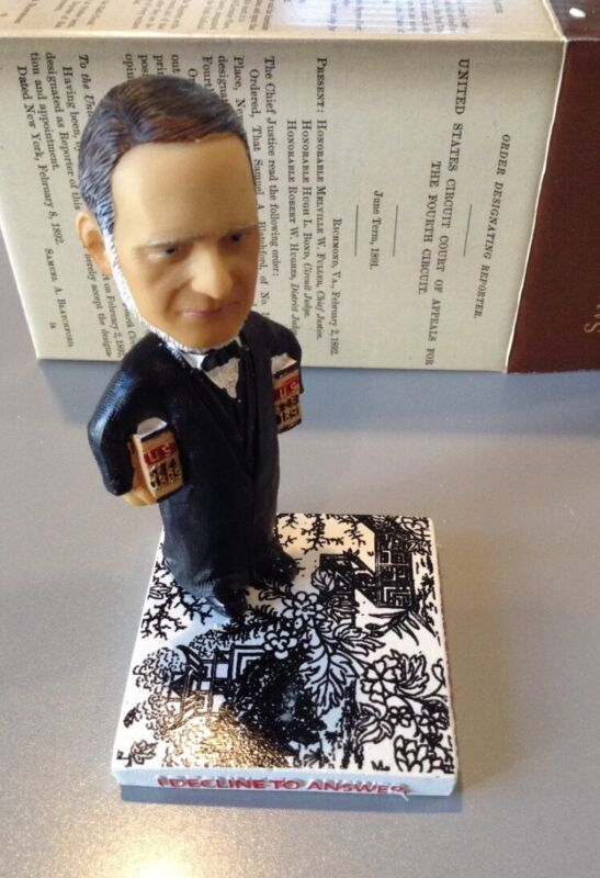 Samuel Blatchford Bobblehead Green Bag Supreme Court Justice - brand new in box