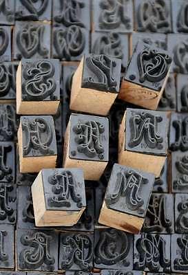 Wäschestempel Jugendstil Monogramm Initial Schablone Stempel - 230 zur Auswahl