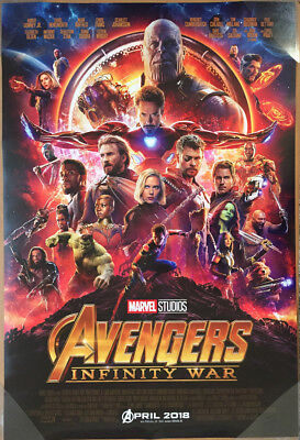 AVENGERS INFINITY WAR MOVIE POSTER 2 Sided ORIGINAL INTL FIN