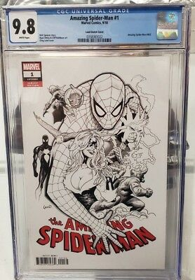 The Amazing Spider-Man #1 Cgc 9.8 Comicbuch (#802) Land Partei Sketch Variante (Wonder Woman Partei)
