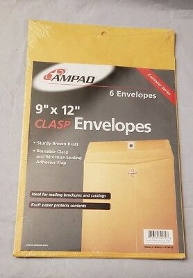Clasp Envelopes 9x12 Brown Kraft Ampad 74072
