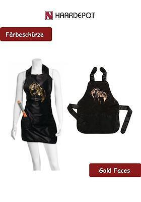 Färbeschürze Gold Faces / Friseurschürze -Friseurqualität-