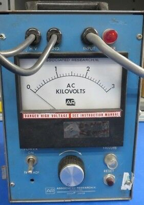 Associated Research 4025 Ac Hypot Junior 3 Kvac 5 Ma Output 115 Vac 5060