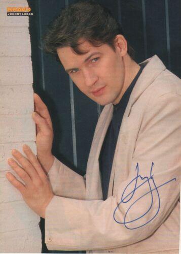 Johnny Logan Autogramm signed A4 Magazinbild